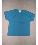 PERSONALIZED SCRUB SNAP TOP SHIRT CARIBBEAN BLUE POLY/COTTON Sizes XS, S... - $13.99+