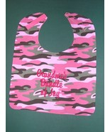 PERSONALIZED Name Pink Green Camo Camouflage BIBS BABY BIB LG Up to 4 wo... - $14.99