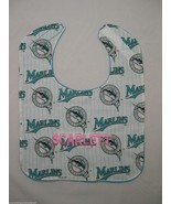 FLORIDA MARLINS PERSONALIZED BABY BIB BIBS Large Terry Baby's Name Embro... - $15.99