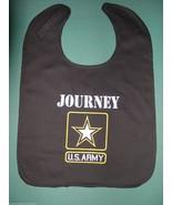 U.S. US ARMY PERSONALIZED BABY BIB BIBS BLACK MILITARY Large + Embroider... - $15.99