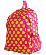 Personalized Backpack Book Bag Polka Dots Pink Lime Initial(s) Name Free... - $39.99