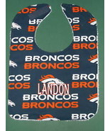 DENVER BRONCOS PERSONALIZED BABY BIB BIBS Large Baby's Name Embroidered ... - $15.99