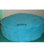 """DOG BED BLUE CORDUROY PERSONALIZED ROUND 28"""" WITH LINER Embroidered Pet'... - $59.95"""