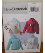 BUTTERICK PATTERN 4346 Sz L-XL TOP AND SCARF LADIES Pullover Long Sleeves - $5.95