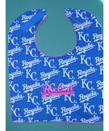 KANSAS CITY ROYALS PERSONALIZED BABY BIB BIBS LARGE MLB +Baby's Name Emb... - $14.99