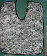 ZEBRA BLK+WHT HAIR BARBER STYLIST NYLON CUTTING CAPE KID'S CHILDREN PERS... - $19.99