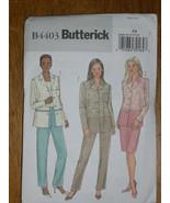 BUTTERICK PATTERN 4403 Sz 8-10-12-14 SHIRT JACKET SKIRT Straight Leg Pan... - $5.95