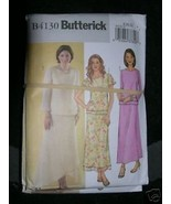 BUTTERICK PATTERN 4130 Sz 14-16-18 Pullover TOP AND SKIRT LADIES Easy - $5.95