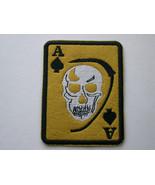 BIKER PATCH ACE SPADES DEATH CARD GRIM REAPER Choose Color Background Se... - $8.99