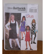 Butterick Pattern 3960 Girls Plus 7-8-10-12-14 GIRLS JUMPER Very Easy Se... - $5.95