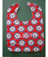 UNITED STATES NAVY NAVAL SEAL PERSONALIZED BABY BIB LG Adjustable Made i... - $15.99