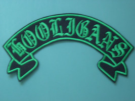 CUSTOM BIKER RIBBON ROCKER CLUB PATCH UPPER OR LOWER LG - $25.99