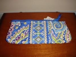 Vera Bradley Capri Blue Brush Pencil Case - $23.89