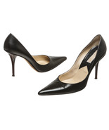 Michael Kors Black Leather Pointed Toe Enamel H... - $125.00