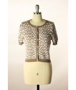Cotton by Autumn Cashmere Animal Print White Be... - $28.95