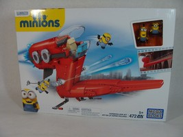 MEGA BLOKS MINIONS SUPERVILLAIN JET PLAYSET W/ MINI FIGURES BRAND NEW! - $34.64