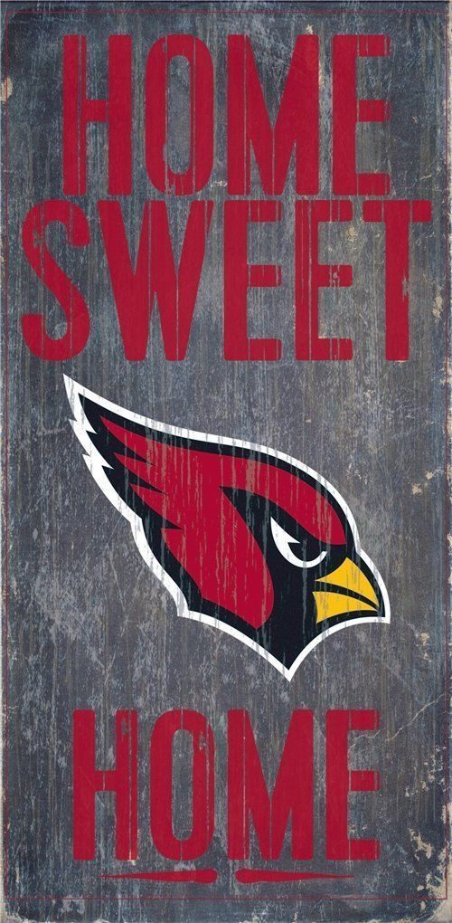 "ARIZONA CARDINALS HOME SWEET HOME WOOD SIGN and ROPE 12"" X 6""  NFL MAN CAVE!"