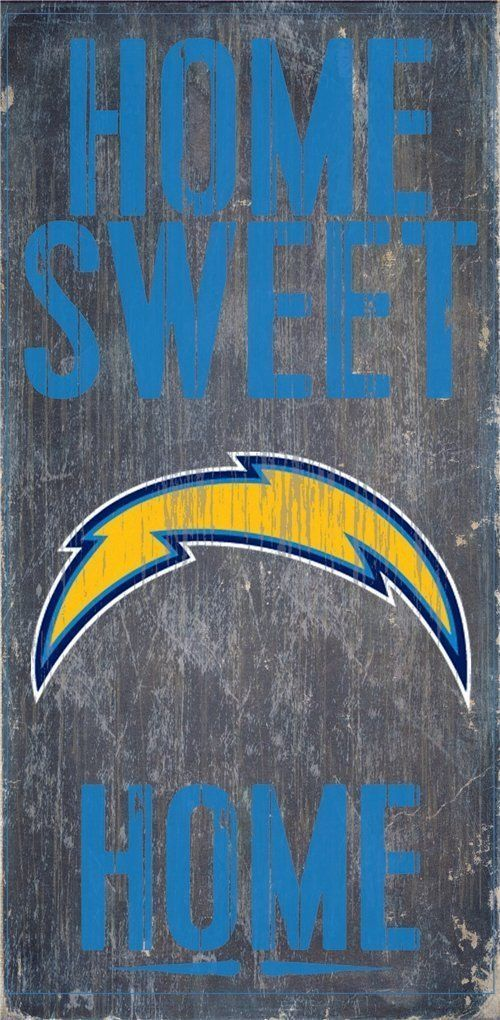 "SAN DIEGO CHARGERS HOME SWEET HOME WOOD SIGN and ROPE 12"" X 6""  NFL MAN CAVE!"