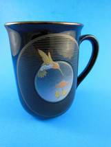 Vintage Otagiri Mug Cup Hummingbird on Black wi... - $6.92