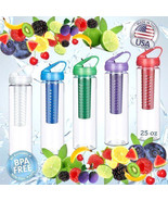 25 OZ Infusion Sports Water Bottles Removable Infuser make Fruit Infused... - $9.95