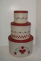 Stoneware Country Canisters R.R. P. Co. Robinso... - $30.00