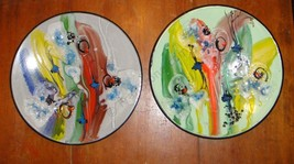 Enamelware Made in Poland Large Original art wall plaques Mid Century Mo... - $251.75
