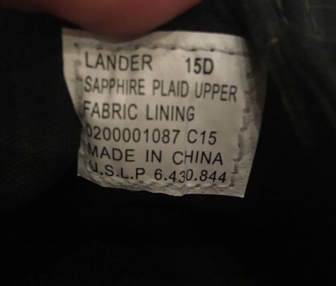 Polo Ralph Lauren Lander Black Green Sapphire Plaid Logo Sneakers Boat Shoes 15