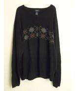 Dockers V Neck Shirt Sweater Size XL 100% Cotton Black - $21.37