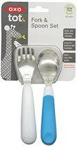 OXO Tot Training Fork & Spoon Set- Aqua - $18.99