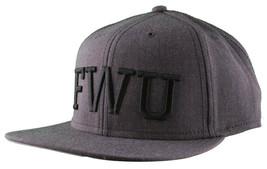 Crooks & Castles F.W.U Fu*k with Us Heather Charcoal Snapback Baseball Hat NWT image 2