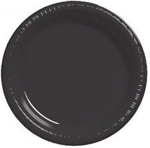 "Black 7"" Plastic Desert Plates 20 Per Pack Creative Converting - £5.63 GBP"