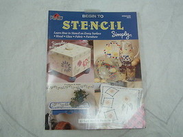 paperback book Plaid Begin to Stencil simply - $8.38