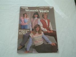 Vintage 1980s leisure arts women's vest crochet  knit pattern leaflet  - $6.80