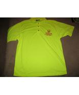 VEA Visibility Enhanced Apparel Mens Size Large Green Polo Shirt - Short... - $12.99