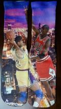 Custom Jordan VS Magic Dry Fit socks infared bred bulls lakers X XII  - $13.99