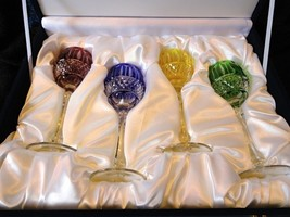 Faberge Xenia Goblet Glasses set of 4   - $975.00