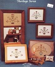 Antique Flowers Homespun Elegance Heritage Series Cross Stitch PATTERN Leaflet - $2.22