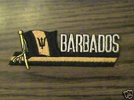 100% EMBROIDERED BARBADOS COUNTRY,RARE.FLAG  PATCH - $6.56