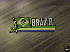 100% EMBROIDERED COLLECTABLE  BRAZIL COUNTRY PATCH - $4.28