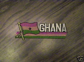 100% EMBROIDERED GHANA  RARE COLLECTABLE FLAG  PATCH - $14.25