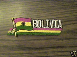 100% EMBROIDERED BOLIVIA COUNTRY,RARE.FLAG  PATCH - $14.25