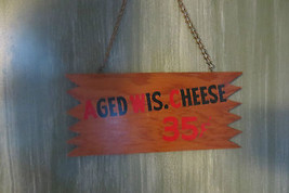 Double sided wooden advertising sign,Aged Wis Cheese&Manhattan,cheese factory  - $28.50