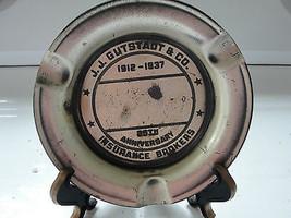 J.J. Gutstadt & Co. Insurance Broker ashtray, 1937, 25th Anniversary, old - $77.85
