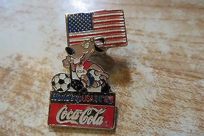 World Cup soccer souvenir advertising sponser coca cola soda pop pin 1994 dates