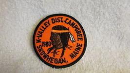 1980 K Valley Dist.Camporee,Skowhegan Maine Bsa Patch - $15.91
