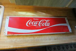 Enjoy Coca-Cola store rack unit  display long unit advertising logo stee... - $128.25