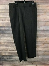 Ann Taylor LOFT Women's Dark Brown Tweed Marisa Dress Pants Size 8 Insea... - $17.82