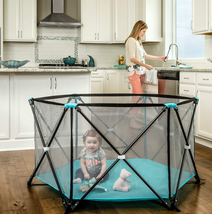 Regalo My Play Portable Playpen 6 Panel Yard W/ Carry Case Indoor Outdoo... - $81.71