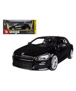 Volkswagen Scirocco R Black 1/24 Diecast Car Model by Bburago 21060bk - $38.54