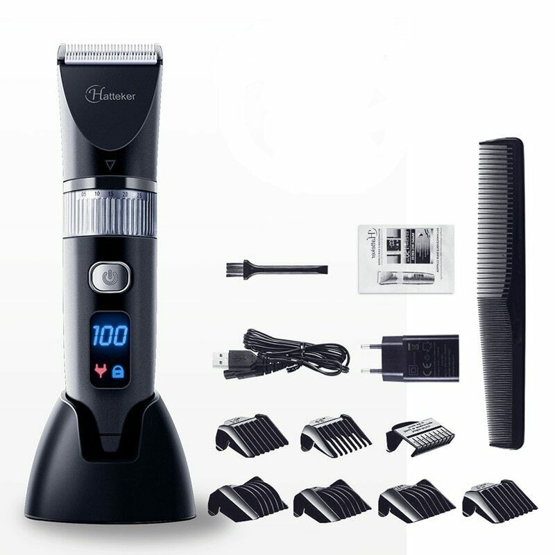 Primary image for Electric HairClipper Ceramic Blade Waterproof Hair Professional LED Display Hair